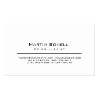 Modern Simple Minimalist Consultant Business Card