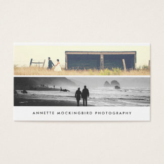 Modern Simple Minimalist Photography | Two Photo Business Card