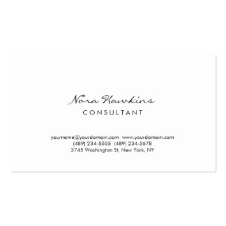 Modern Simple Minimalist Red White Consultant Pack Of Standard Business Cards