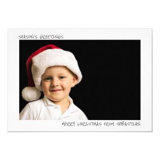 Modern Simple Personalized Christmas Photo 13 Cm X 18 Cm Invitation Card