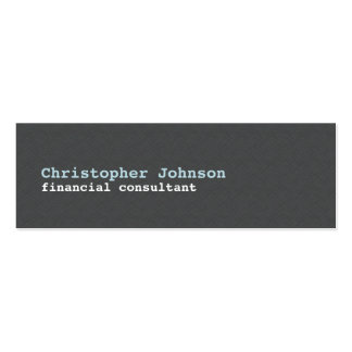 Modern Simple Texture Grey Blue Consultant Pack Of Skinny Business Cards
