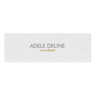 Modern Simple Texture White Consultant Pack Of Skinny Business Cards