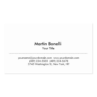 Modern Simple White Professional Business Card