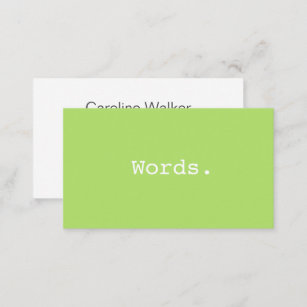 Lime green business cards zazzle uk modern simple writer publisher editor lime green business card reheart