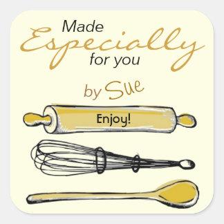 Modern Sketchy Kitchen Gift Stickers