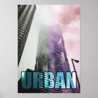 Modern Skyscraper Urban Big City Poster