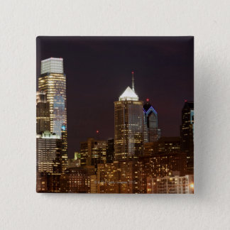 Modern skyscrapers of Philadelphia downtown 15 Cm Square Badge