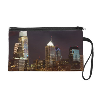 Modern skyscrapers of Philadelphia downtown Wristlet Clutches