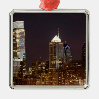 Modern skyscrapers of Philadelphia downtown Christmas Ornament