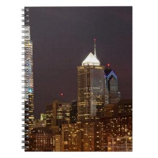 Modern skyscrapers of Philadelphia downtown Notebook