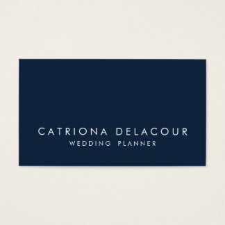 Modern Sleek Elegant Navy Blue Business Card