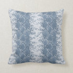 Modern Snakeskin Blue Pattern Cushion