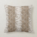 Modern Snakeskin Brown Pattern Cushion