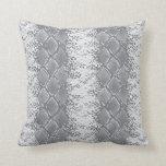 Modern Snakeskin Grey Pattern Cushion