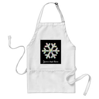 Modern Snowflake And Love Heart Standard Apron