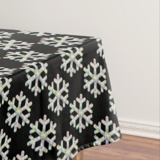 Modern Snowflake and Love Heart Tablecloth