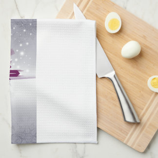 Modern Snowflake - Merry Christmas Happy New Year Kitchen Towels