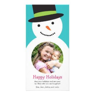 Modern Snowman Holiday Photo Card