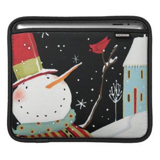 Modern Snowmen Winter Home iPad Sleeve