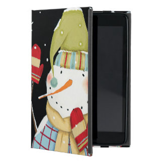 Modern Snowmen with Mittens Case For iPad Mini