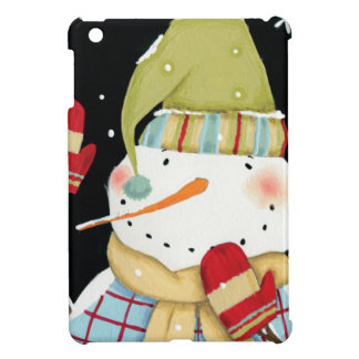 Modern Snowmen with Mittens Case For The iPad Mini