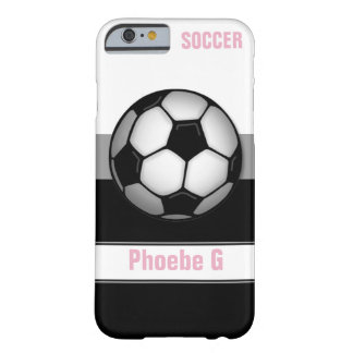 Modern Soccer Ball Pink personalised iPhone 6 Case Barely There iPhone 6 Case