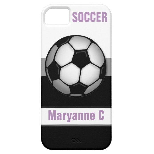 Modern Soccer Ball purple custom iPhone 5 Case