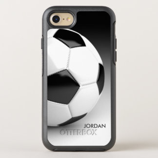 Modern Soccer Ball With Your Name OtterBox Symmetry iPhone 8/7 Case