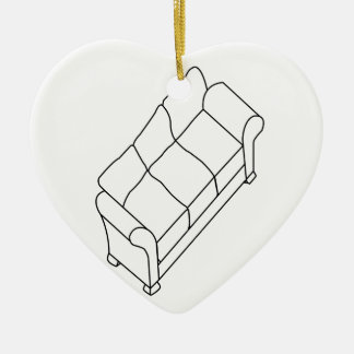 modern sofa christmas ornament