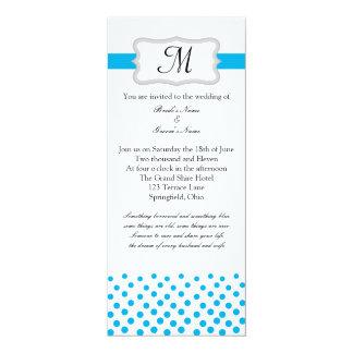 Modern Something Blue 4x9.25 Paper Invitation Card