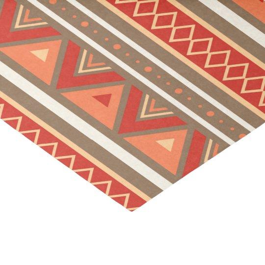 Modern Southwestern Geometric, Taupe & Orange Tissue Paper