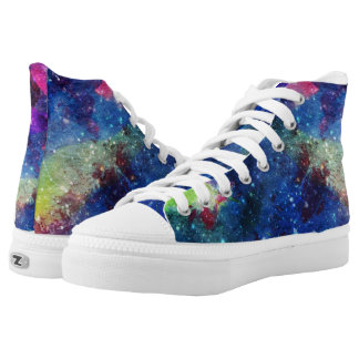 Modern space starry galaxy painting printed shoes