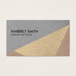 Modern Speckled Color Blocks Business Card