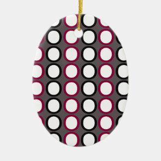 Modern Splash of O's Christmas Ornament
