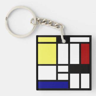 Modern Square Art Key Ring