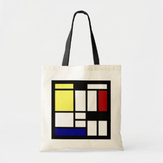 Modern square art tote bag