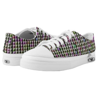 Modern square multicolored pattern low tops