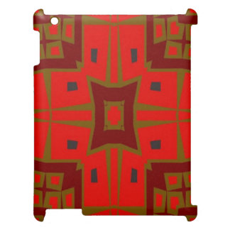 Modern square pattern iPad cover