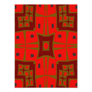 Modern square pattern photo print