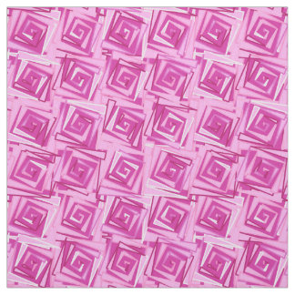Modern Square Spirals, Orchid and Violet Fabric