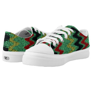 Modern stained glass low tops