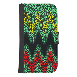 Modern stained glass samsung s4 wallet case