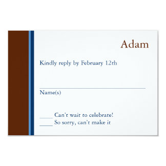 Modern Star Bar Mitzvah Response Card 9 Cm X 13 Cm Invitation Card
