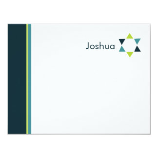 Modern Star Bar Mitzvah Thank You Card