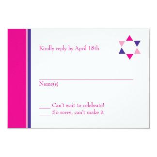 Modern Star Bat Mitzvah Response Card