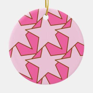 Modern Star Geometric - light and deep pink Christmas Ornament