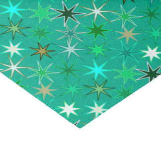 Modern Starburst Print, Turquoise and Aqua Tissue Paper