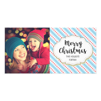 Modern Stars Christmas Picture Photo Card