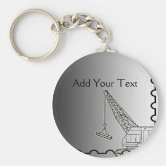 Modern Steel Construction Basic Round Button Key Ring