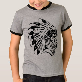 MODERN STENCIL OF A NATIVE AMERICAN T-Shirt